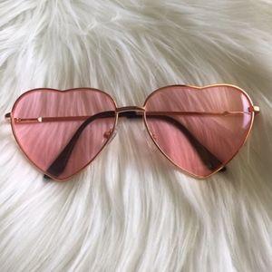 Brandy Melville Heart Sunglasses